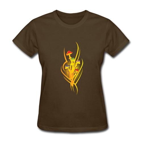 Rainbow Mushroom Art - Women's T-Shirt
