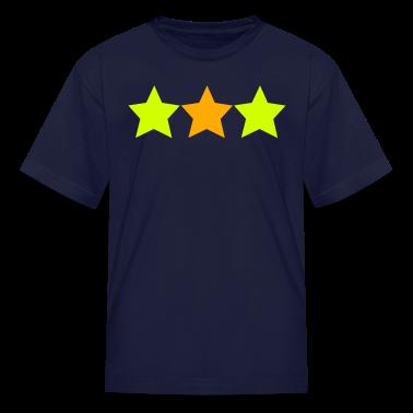 Navy NEON STARS Kids' Shirts