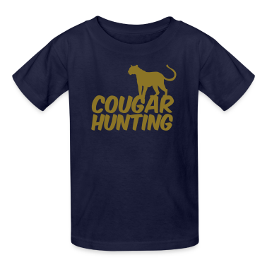 Navy COUGAR HUNTING Kids' Shirts