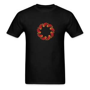 Tribal Round Flames 8 - Men's T-Shirt
