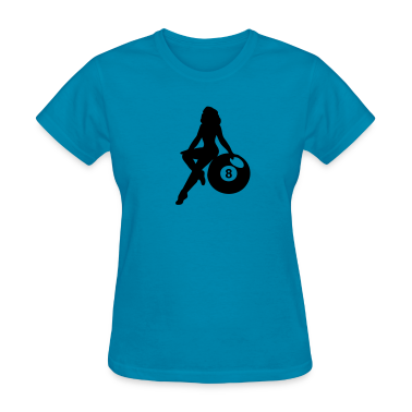 Light blue eight ball Women's T-Shirts