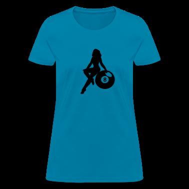 Light blue eight ball Women's T-Shirts
