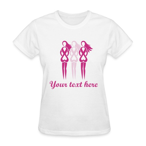Pink Ribbon Ladies - Add your Own Text T-shirt - Women's T-Shirt