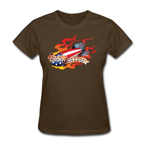 USA, Bitch! - Women's T-Shirt