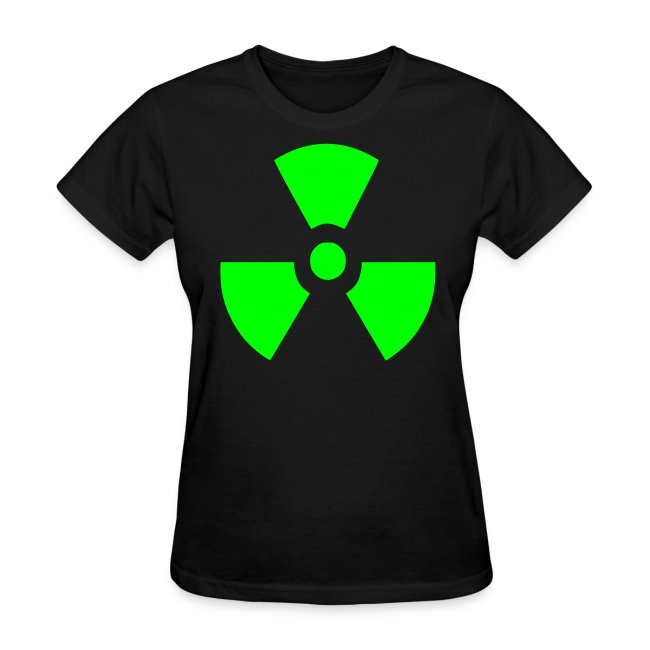 Ladies Radiation Symbol shirt