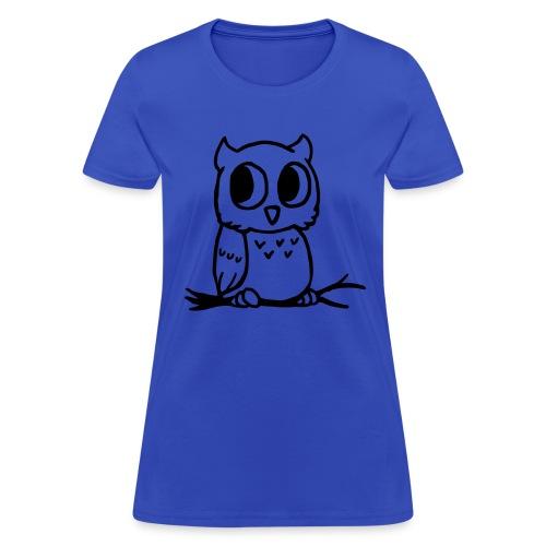 Ladies Owl Shirt - Women's T-Shirt