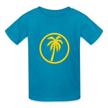 Orange Palms Kids' Shirts