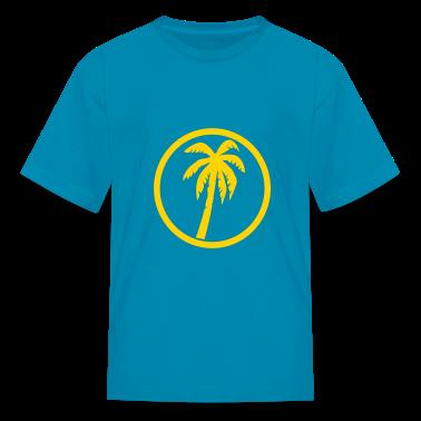 Orange Palms Kids' Shirts