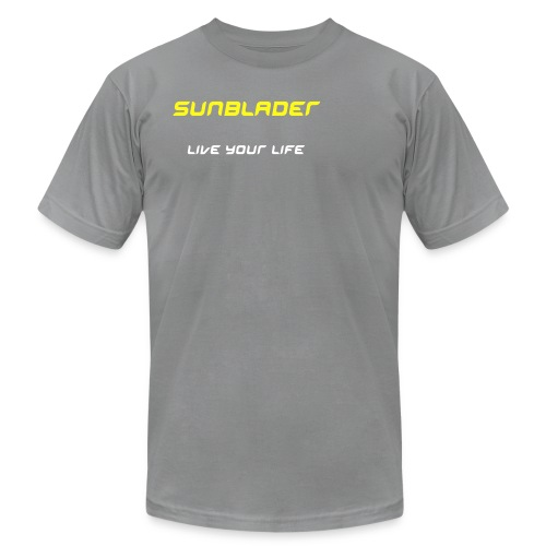 Sunblader Live Your Life Delux-fit AA top - Men's Fine Jersey T-Shirt
