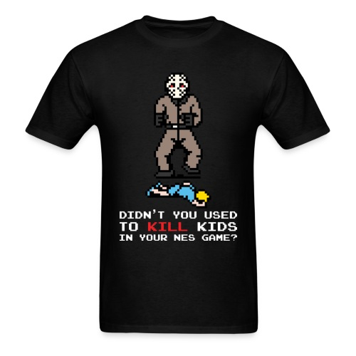 The Slashers 8-bit Jay T-Shirt Men White Text - Men's T-Shirt