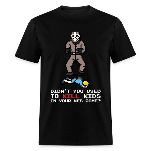 The Slashers 8-bit Jay T-Shirt Men White Text - Men's T-Shirt