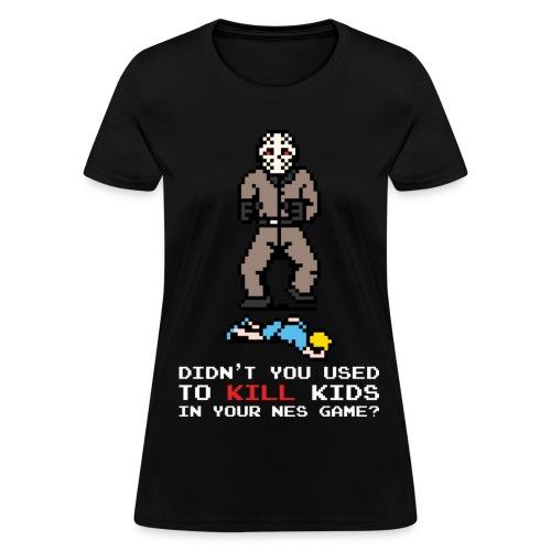 The Slashers 8-bit Jay T-Shirt Women White Text - Women's T-Shirt