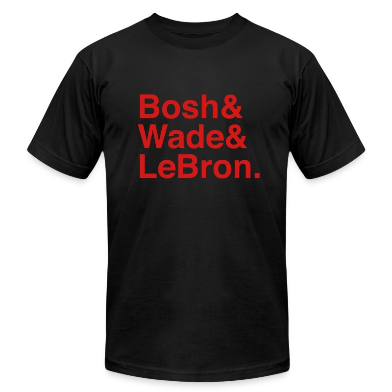 Miami Heat Big 3 - Men's T-Shirt by American Apparel
