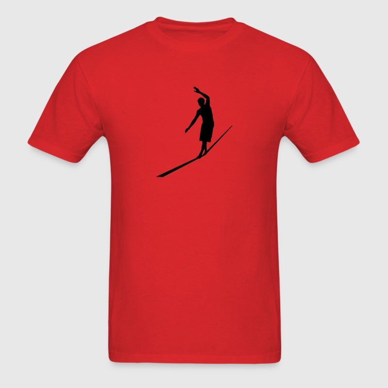 Red Slackline T-Shirts - Men's T-Shirt
