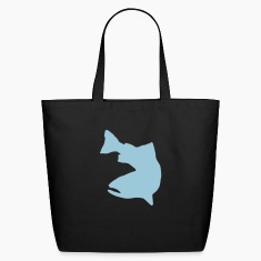 FLY FISHING VECTOR GRAPHIC - ECO FRIENDLY COTTON TOTE