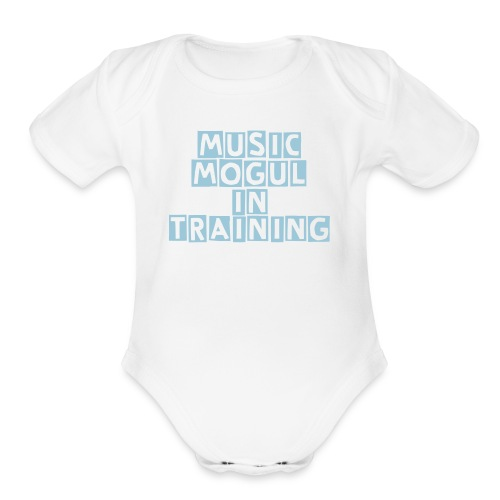Music Mogul In Training - Organic Short Sleeve Baby Bodysuit