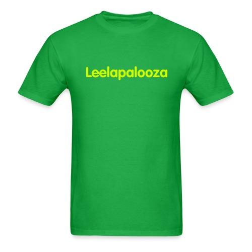 Leelapalooza green/yellow - Men's T-Shirt