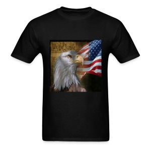 American Eagle We the People Flag T-shirt - Men's T-Shirt