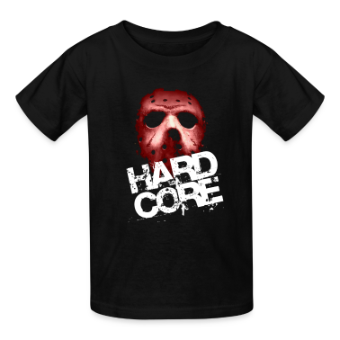 Black Hardcore Mask Kids' Shirts