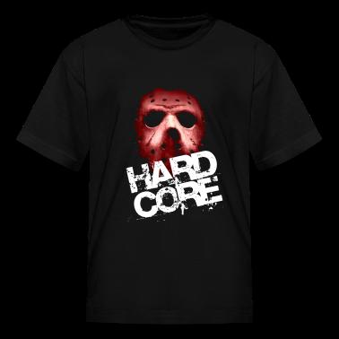 Black Hardcore Mask Kids' Shirts