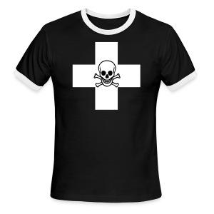 Skull and Cross - Men's Ringer T-Shirt