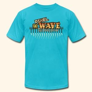 Fictional Arcades: Pixel Wave (Vintage Print) - Men's Fine Jersey T-Shirt