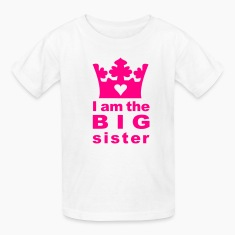 White I am the big Sister Kids' Shirts