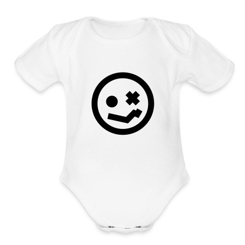 Lunar Freaks baby one piece - Organic Short Sleeve Baby Bodysuit