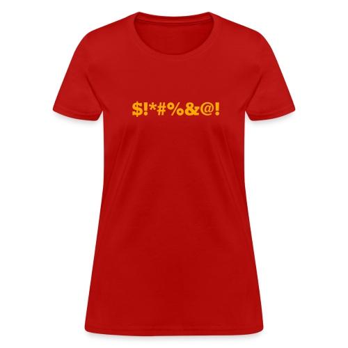 BLEEP! The Censored Swearword Tee - Women's T-Shirt