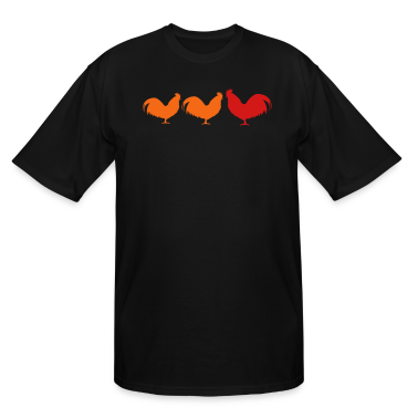 Black 3 cocks roosters T-Shirts