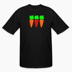 Black THREE CARROTS T-Shirts