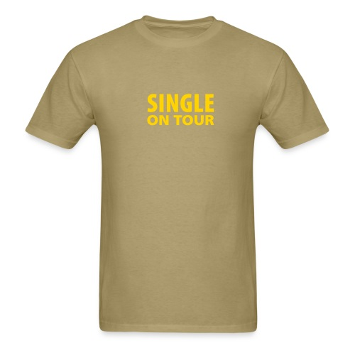 Single on Tour (Beige) - Men's T-Shirt