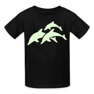 Kids' Shirts ~ Kids' T-Shirt ~ glow in dark dolphins