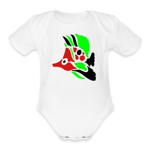 fish - Short Sleeve Baby Bodysuit
