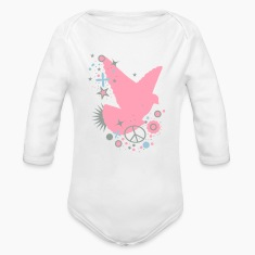 White Peace Dove - symbol of peace Baby Body