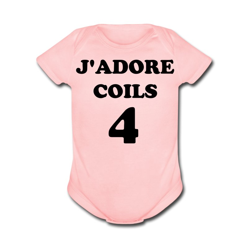 J'Adore Coils for Babies - Short Sleeve Baby Bodysuit