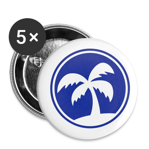 Blue Palm Tree - Large Buttons