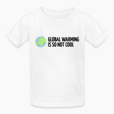 White Global Warming is not Cool (3c) Kids' Shirts