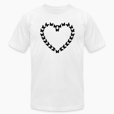 White Butterfly Heart (1c) T-Shirts