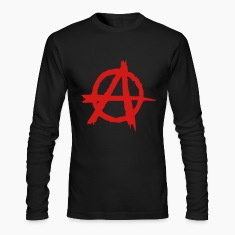 Black Anarchy (1c) Long Sleeve Shirts