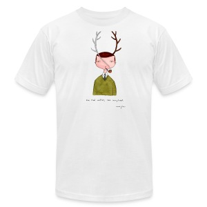 One real antler - Mens white - Men's T-Shirt by American Apparel