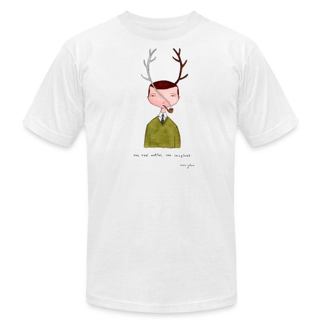 One real antler - Mens white