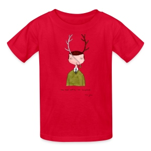 One real antler - Kids color - Kids' T-Shirt