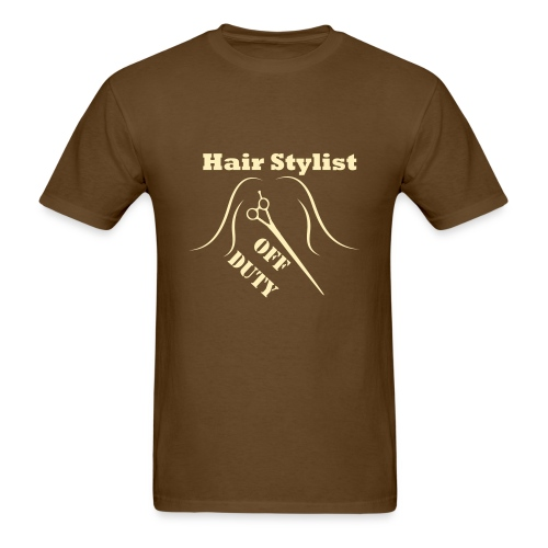 Hair Stylist Off Duty cream - Men's T-Shirt