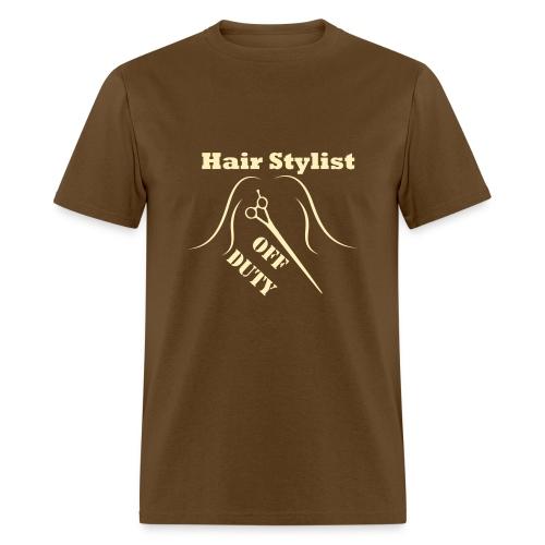 Hair Stylist Off Duty cream - Men's T-Shirt