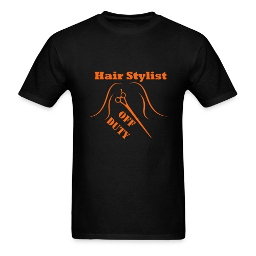 Hair Stylist Off Duty orange - Men's T-Shirt