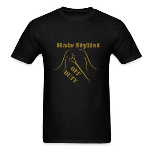 Hair Stylist Off Duty gold - Men's T-Shirt