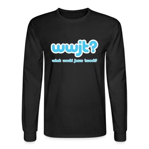 What Would Jesus Tweet? (Men) - Men's Long Sleeve T-Shirt