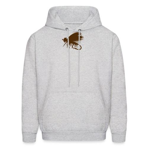 Elk Hair Caddis Brown Logo - Men's Hoodie