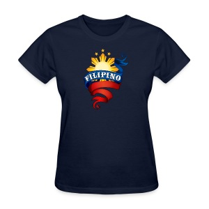 Standard Women's T-Shirt with Definitely Filipino Logo - Women's T-Shirt